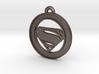 Clasic Superman Circle-pendant 3d printed