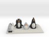 Snow Fight With Robo Penguin and real ones 3d printed