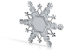 Snow Flake Ornament Base, 3in. 3d printed
