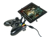 Xbox 360 controller & Samsung Galaxy Tab Pro 12.2  3d printed Side View - A Nexus 7 and a black Xbox 360 controller