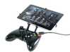 Xbox 360 controller & HP 8 3d printed Front View - A Nexus 7 and a black Xbox 360 controller