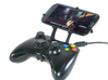 Xbox 360 controller & BLU Dash 3d printed Front View - A Samsung Galaxy S3 and a black Xbox 360 controller