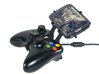 Xbox 360 controller & HTC P6300 3d printed Side View - A Samsung Galaxy S3 and a black Xbox 360 controller