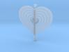 Heart Swap Spinner Flat Spiral - 15cm 3d printed