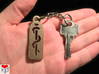 Medical Keychain 3d printed Product Photo (Stainless Steel) showing relative size.