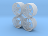 18'' 1/24 scale model wheels (Advan RG-D, male) 3d printed