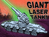 GIANT LASER TANK!!! (7 inch version) 3d printed