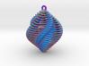 Mathematical Mollusca - Spiraling Blue 3d printed
