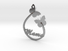 Mama Pendant Butterfly butterflies silver gold nec 3d printed