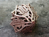 Botanical Decader Die10 (Oak) 3d printed In stainless steel