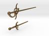 Rapier and Dagger (17th C. sword) earrings 3d printed