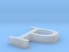 P Letter 3d printed