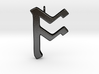 Rune Pendant - Ōs 3d printed