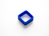 Poly4 Ring 3d printed The Poly4 Ring in Blue Strong & Flexible