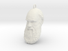 "Charles Darwin 1"" Head, Pendant, Ear Ring, Charm,  3d printed"