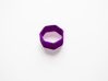 Poly7 Ring 3d printed Poly7 Ring in Purple Strong & Flexible