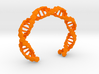 Hex DNA Bracelet BW - 8cm 3d printed