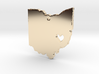 I love Ohio Necklace 3d printed