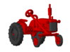 1/87 Scale 1950 Potato Tractor 3d printed Shown with wheels on.