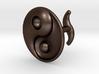 Yin Yang - 6.1 - Cufflink - Left 3d printed