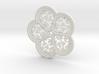 Cinquefoil Coaster 3d printed