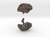 Custom (Your Brain!) Cufflinks (Two Hemispheres) 3d printed