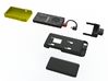 NightScout Case, Dexcom G4, Common End 3d printed Modular Dexcom & Phone case components. Part in yellow is for purchase on this page.