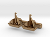 """Ship Cufflinks, Part of """"Nautical"""" Collection 3d printed"""