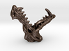 dragon wardrobe hook 3d printed dragon wardrobe hook Rend ered Image of  3D print in polished  bronze steel