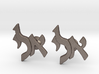 "Hebrew Monogram Cufflinks - ""Aleph Yud Lamed"" 3d printed"