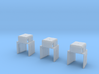 HO-Scale UP TR-5 Dynamic Brake Box 3-Pack 3d printed