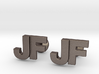 Monogram Cufflinks JF 3d printed