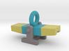 Agility Teeter Pendant (Blue Version) 3d printed