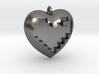 8-bit Heart in Heart Pendant 3d printed