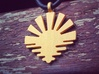 'Sunrise' Jewelry Pendant in Metal 3d printed