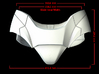 Iron Man Pelvis Armor, Front Left (Part 1 of 5) 3d printed CG Render (Front Measurements)