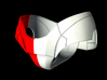 Iron Man Pelvis Armor, Front Right (Part 2 of 5) 3d printed CG Render (What's highlighted in Red will be printed)