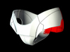 Iron Man Pelvis Armor, Back Left (Part 5 of 5) 3d printed CG Render (What's highlighted in Red will be printed)