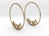Custom Hoop Earrings - Secret 50mm 3d printed