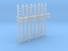 'N Scale' - (4) - 10' Caged Ladder 3d printed