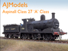 AJModels P03A L&Y A Class 27 for Bachmann Chassis 3d printed Detailed & decorated prototype model