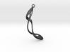 Earring: Twisted loop - 5 cm 3d printed