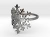Snowflake Ring - US Size 08 3d printed