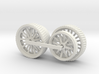 1005-1 Fowler Plough Engine Wheels 1:43.5 O Scale 3d printed