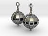 Globe Earrings 3d printed