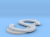 Overlaid Letter Charm 3d printed