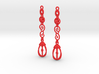 Eloquent Leaves Earrings - Modern Elegance Series 3d printed