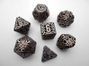 Ring Dice Set With Decader 3d printed In Stainless Steel