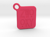 ZWOOKY Keyring LOGO 14 3cm 2mm rounded 3d printed