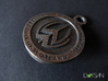 Personalized Round Bottle Opener Keychain 3d printed
